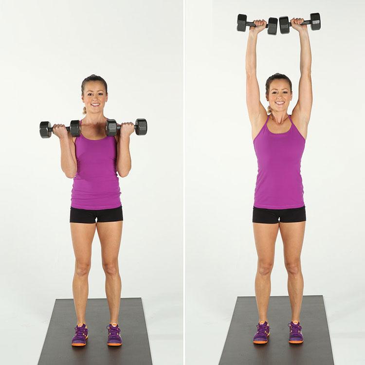 упражнения с гантелями для подтяжки груди