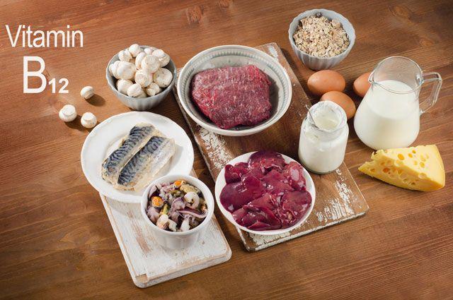 в каких продуктах витамин B12