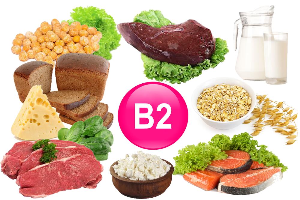 в каких продуктах витамин B2