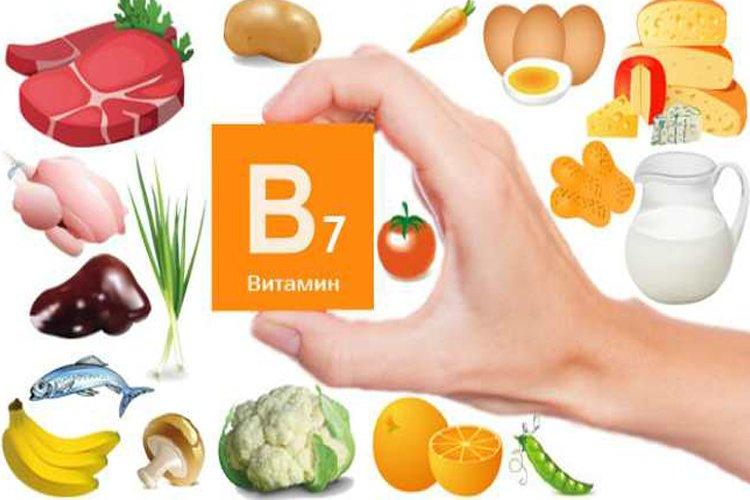 в каких продуктах витамин B7