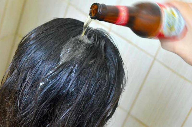 Ополаскивание волос пивом