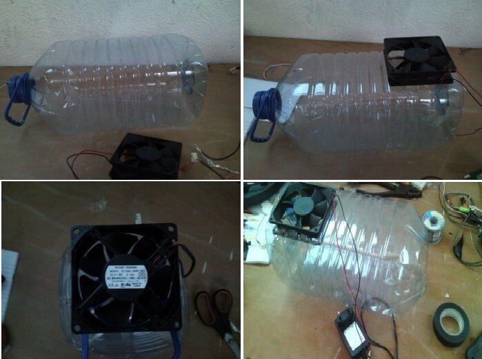 кондиционер из вентилятора и пластиковой бутылки