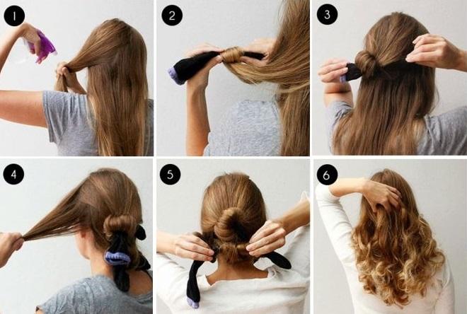 накрутить волосы на носки