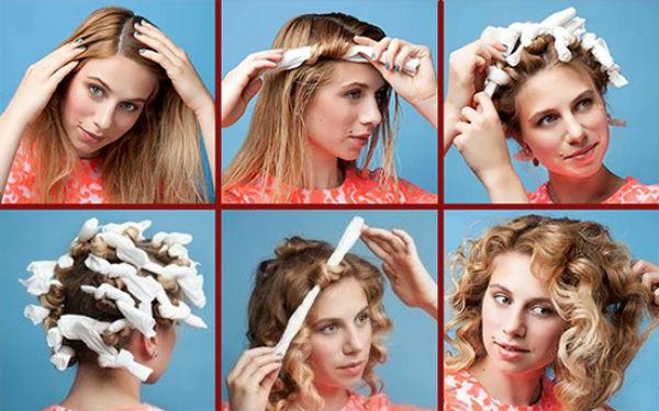 накрутить волосы на тряпочки