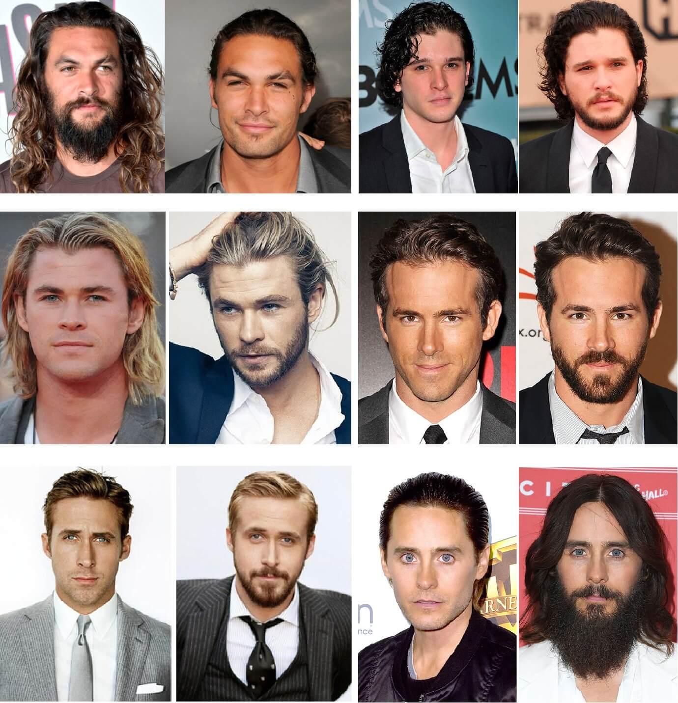 Знаменитости с бородой и без