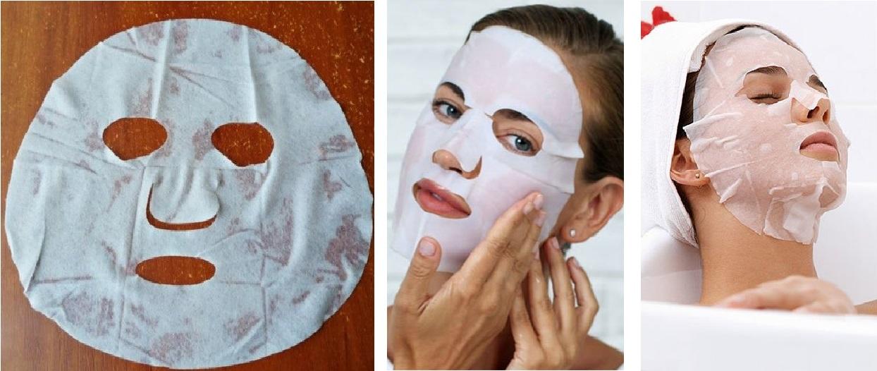 как наносить тканевую маску на лицо