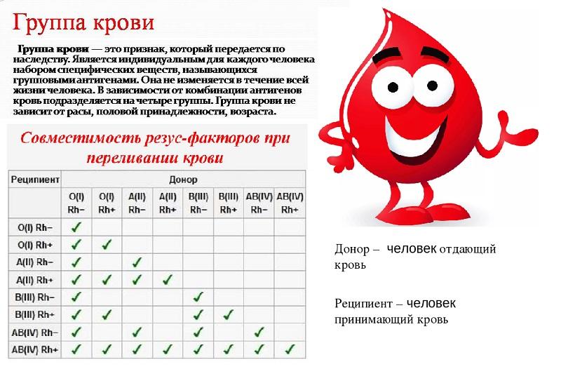 какие бывают группы крови